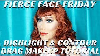 Basics Of Contour & Highlight For Drag Queen Makeup Tutorial #FIERCEFACEFRIDAY- Mathias4makeup
