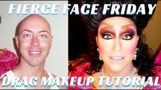 Glitter Drag Queen Makeup Tutorial Step By Step | BTS Best In Drag Show- Mathias4makeup