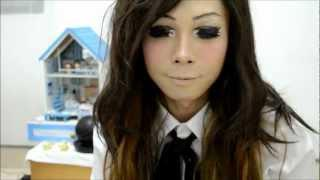 A Boy To Girl Transformation Makeup Anime Eyes