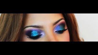 Galaxy Inspired Eye Makeup Tutorial