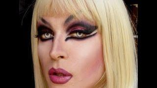 Gothic Drag Queen Makeup - Transformation -
