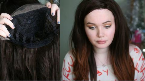 """24"""" Brown Ombre Long Straight Synthetic Lace Front Wig Review! 