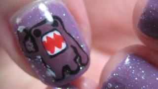How To Paint Domo - Nail Art Tutorial - Make Your Own Nail Stickers / Decals