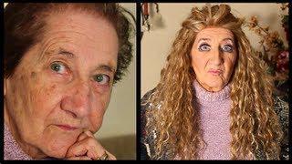 DRAG QUEEN TRANSFORMATION Grandma Demis (makeup Tutorial)