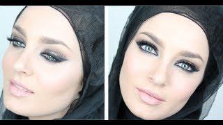 Eid Makeup: Gold&Purple Arabic Smokey Eye