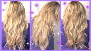 52 Weeks Of Beauty - 2013 Week 9 - Tape In Hair Extensions: Blow Dry, Layer, Style Hair Tutorial!
