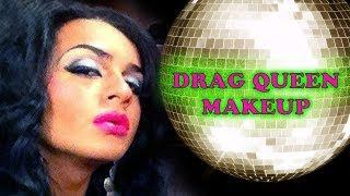 Boy Transforms Into A Gorgeous Woman. (Club/Disco Inspired Fish Drag Makeup Tutorial)