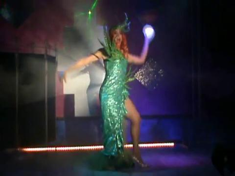 Valentine Vidal performing 'Hablame Luna' - drag queen show