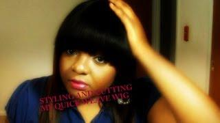 How To: Cut China Bangs On Quick Weave Wig