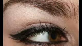 Rihanna&Angelina Jolie Cat Eyeliner Eye Make Up Tutorial
