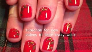 Holly Nail Art For Short Nails - Easy