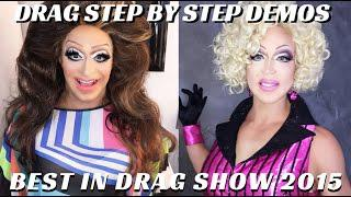 Drag Makeup On 2 Drag Queens Step By Step | Best In Drag Show #FIERCEFACEFRDIAY - Mathias4makeup
