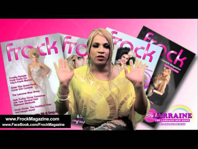 LARRAINE BOW'S THANK YOU TO FROCK MAGAZINE FOR WINNING 2014 COVERGIRL