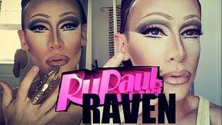 RAVEN Rupauls Drag Race Makeup Transformation