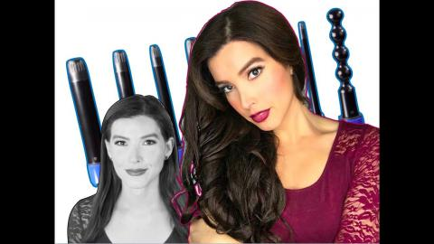 MERMAID HAIR!  - IRRESISTIBLE ME 8 in 1 Sapphire CURLING WAND Review/Tutorial | Caroland
