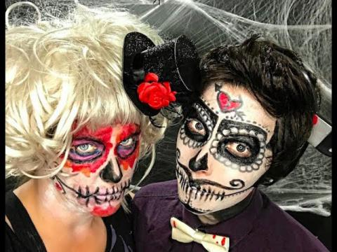 SUGAR SKULL Halloween Makeup Tutorial | Caroland