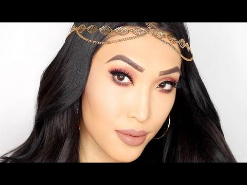 Rose Gold Queen Makeup Look (HudaBeauty Rose Gold Palette)