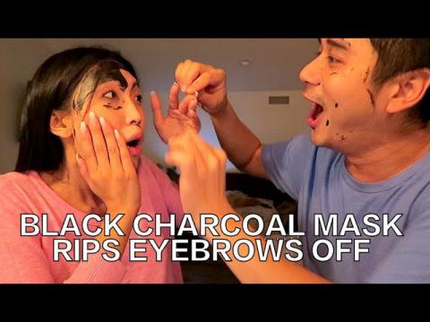 Black Charcoal Mask Rips Eyebrows Off!!!