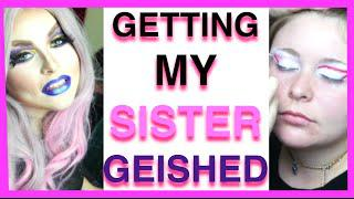 Getting My SISTER In Geish | Bio Queen Drag Transformation