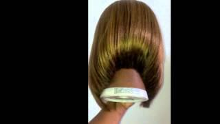 Synthetic (long) Wig Cut Into A-line Bob