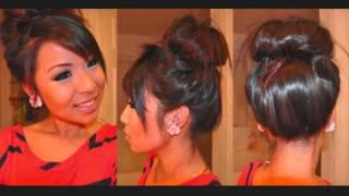 Messy Bun With Clip In Hair Extensions Hairstyle Tutorial