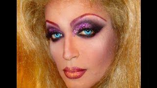 Pink Glitter Drag Queen Makeup Transformation
