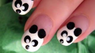 Cute And Easy Panda Nail Art