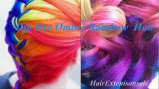 Ombre Hair Extensions Dip Dye