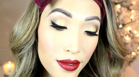 Classic Holiday Glam Makeup Tutorial (Gwen Stefani Palette)