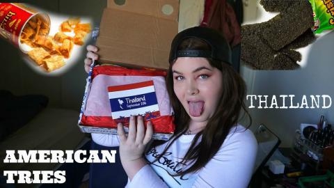 AMERICAN TRIES THAILAND SNACKS!! Taste Test!