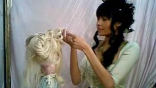 Hime Lolita Wig Styling Tutorial: 1/2
