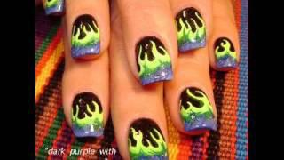 Neon Flames - Epic Fire NAILS