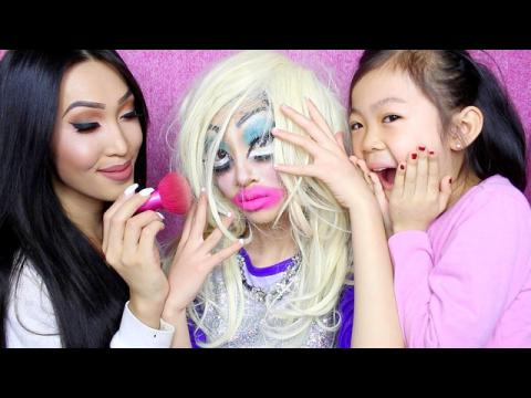 DRAG QUEEN MAKEUP GONE WRONG! (Ft. Little Sisters)