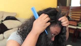 Luvleehair.net Brazilian Curly L-part Wig Install And Cutting