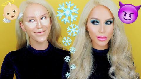 TALK THRU MAKEUP: Blue Holiday Glam | Gigi