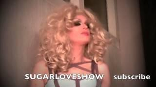 SUGAR LOVE DRAG QUEEN NEW WIG DRESS AND CONTACT LENSES!
