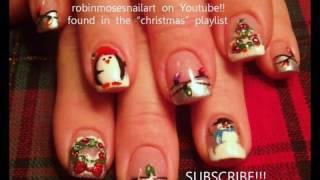 Nail Art - Painting A Christmas Scene