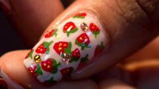 Mini Strawberry Nails