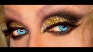 Flawless Golden Drag Queen Makeup !!!!!!