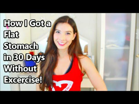How I Got a Flat Stomach in 30 Days without Exercise!