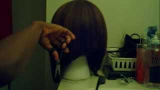 How To Cut This Wig! LONG SHORT BOB Ponytail Cutting Method