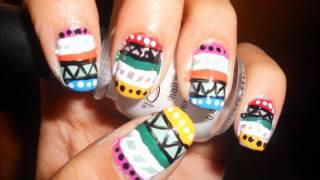 Tribal Print Nail Tutorial - How To Paint Tribal Print On Your Nails