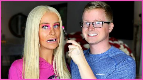 LITTLE BROTHER DOES MY MAKEUP   Gigi