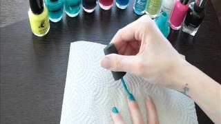 #15 Painting Nails Teal Blue Whisper ASMR