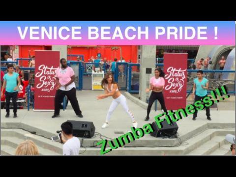 Venice Beach PRIDE 2017! ZUMBA FITNESS MEDLEY | Caroland