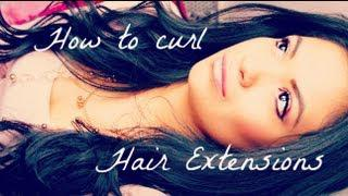 How To Curl Hair Extensions - VPFashion.com