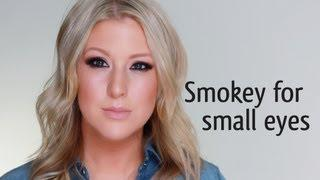 SMOKEY MAKEUP FOR SMALL EYES  (Julianne Hough)