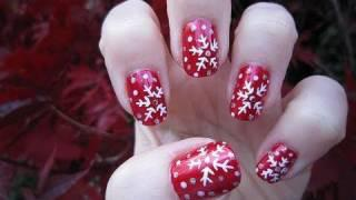 Winter Snowflake Nail Tutorial