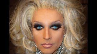 Pamela Anderson Smokey Eyes Inspired Look - Drag Queen Transformation!!!!