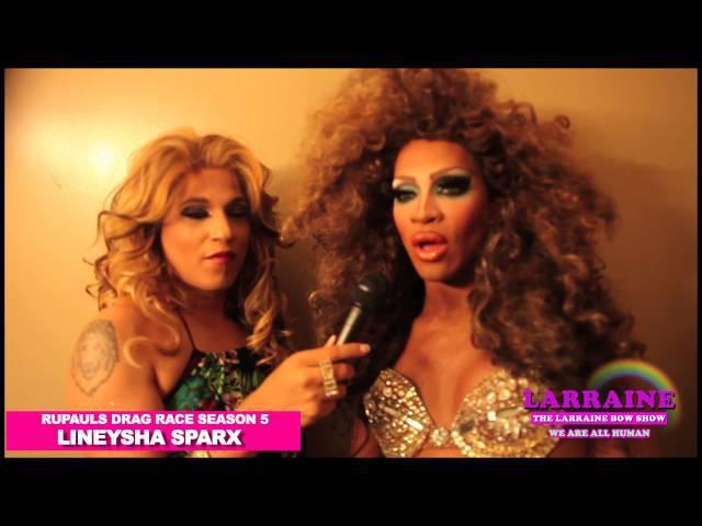 Larraine Bow's Kiki Interview with RuPauls Drag Race Season 5 Lineysha Sparx